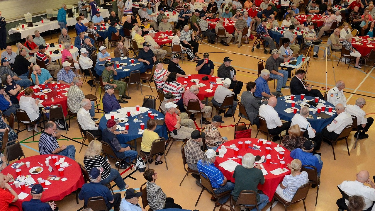 Veterans at a luncheon